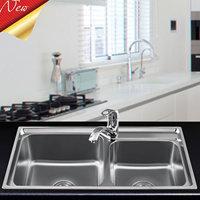 Chậu rửa bát inox 304 Sơn Hà Premium S80.X.1.3